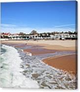Estoril Beach In Portugal Canvas Print
