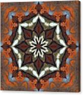 Estuary Sunrise Mandala Canvas Print