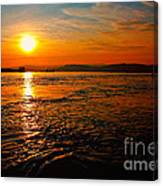 Estuary Sunset  Canvas Print