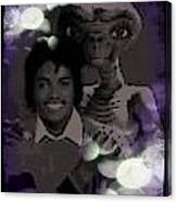 Et And Michael Jackson Photo  Canvas Print