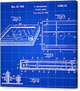 Etch A Sketch Patent 1959 - Blue Canvas Print