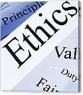 Ethics Concept Canvas Print