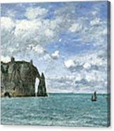 Etretat. The Cliff Of Aval Canvas Print
