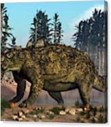 Euoplocephalus Dinosaur Grazing Canvas Print