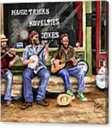 Eureka Springs Novelty Shop String Quartet Canvas Print