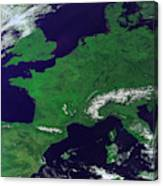 Europe From Above Canvas Print