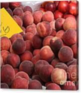 European Markets - Peaches And Nectarines Canvas Print
