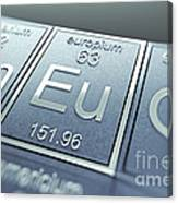 Europium Chemical Element Canvas Print