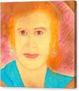 Eva Peron Orange Canvas Print