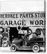 Evans Garage, 1936 Canvas Print