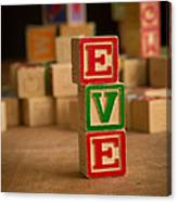Eve - Alphabet Blocks Canvas Print