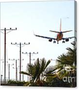 Even Airplanes Obey Traffic Signs Canvas Print