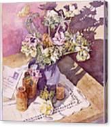 Evening Anemones Canvas Print