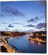 Evening At Douro River In Portugal Canvas Print