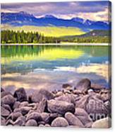Evening At Lake Annette Canvas Print
