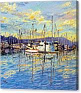 Evening At Sausalito Canvas Print