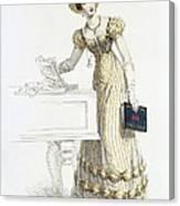 Evening Dress, Fashion Plate Canvas Print