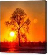 Evening Ember Sunset Canvas Print