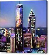 Evening In Atlanta Edge Side Canvas Print