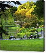 Evening In Central Park Canvas Print