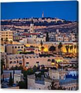 Evening In Jerusalem Canvas Print
