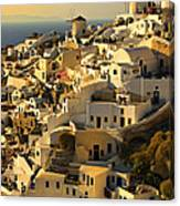 evening in Oia Canvas Print
