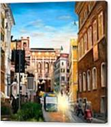Evening In Rome Canvas Print
