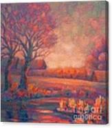 Evening In Tarasovka. Canvas Print
