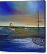 Evening In The Harbor Canvas Print