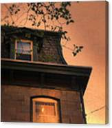 Evening Light On Old House Canvas Print