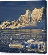 Evening Light On Peaks Paradise Bay Canvas Print