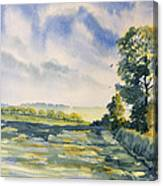 Evening Light On The Woldsway Canvas Print