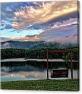 Evening Mist In August Over Lake Tamarack Canvas Print