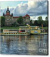 Evening Mood On The Elbe Canvas Print