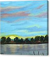 Evening On Ema River Canvas Print