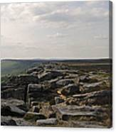 Evening On Stanage Edge Canvas Print