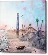 Evening on the beach St Simons Island GA Canvas Print