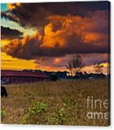 Evening On The Farm Five Canvas Print