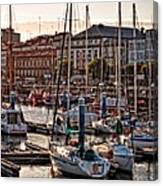 Evening On The Harbor  Canvas Print