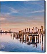 Evening On The Humboldt Bay Canvas Print