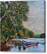 Evening On The Lake Canvas Print