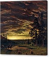 Evening On The Prairie Canvas Print