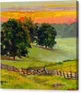 Evening Pastures Canvas Print
