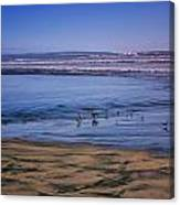 Evening Peace On Coronado Beach Canvas Print