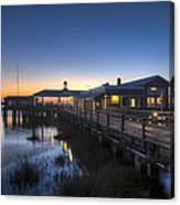 Evening Sky At The Dock Canvas Print