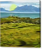 Evening Stroll By The Seashore Canvas Print