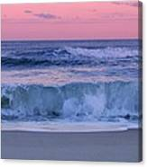Evening Waves - Jersey Shore Canvas Print