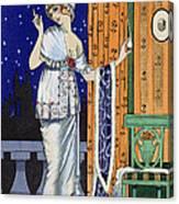 Evening Wear From Costume Parisien Canvas Print