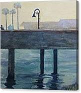 Eventide At The Oceanside Harbor Fishing Pier Canvas Print