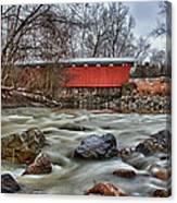 Everett Road Covered Bridge Canvas Print